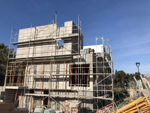 Villa being built in La Cala de Mijas
